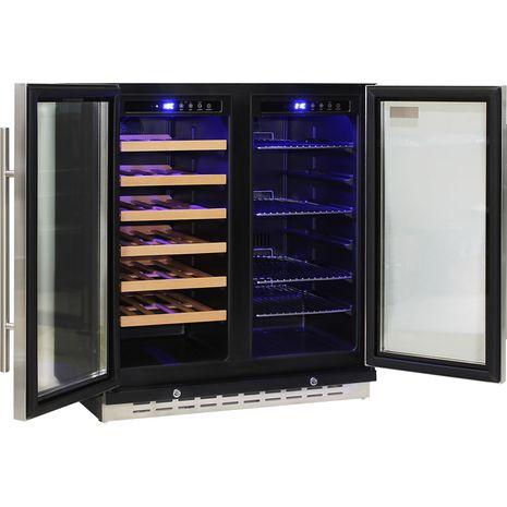 Schmick-Dual-Zone-Beer-And-Wine-Refrigerator-Quiet-Under-Bench  4
