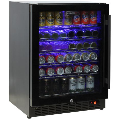 Schmick-Under-Bench-Bar-Fridge-Black-Cold-Beer-Quiet-Model-SK151BG  1