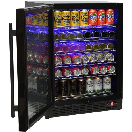 Schmick-Under-Bench-Bar-Fridge-Black-Cold-Beer-Quiet-Model-SK151BG  2