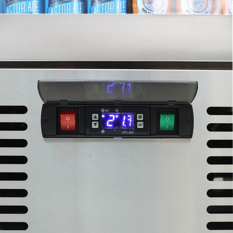Rhino-Energy-Efficient-Upright-Glass-Door-Fridge-SGT1L-SS-Controller