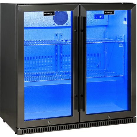 Schmick-Alfresco-Black-Stainless-Bar-Fridge-SK190-BS-Blue-Led  1
