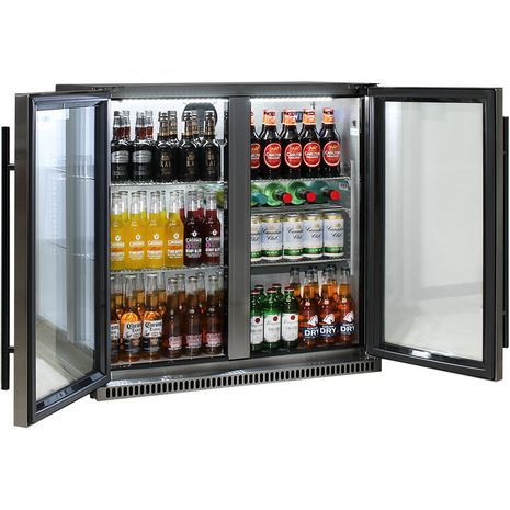 Schmick-Alfresco-Black-Stainless-Bar-Fridge-SK190-BS-White-Led  6