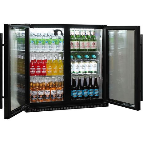 Schmick-Outdoor-Fridge-Black-2Door-SK190-B  12