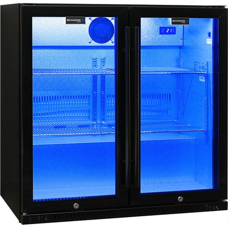 Schmick-Outdoor-Fridge-Black-2Door-SK190-B  1