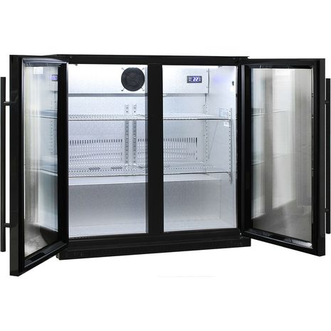 Schmick-Outdoor-Fridge-Black-2Door-SK190-B  9